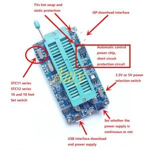 Image 1 - STC brülör Downloader, USB programcı, destek 8P için 40P mikrodenetleyici 5V ve 3.3V