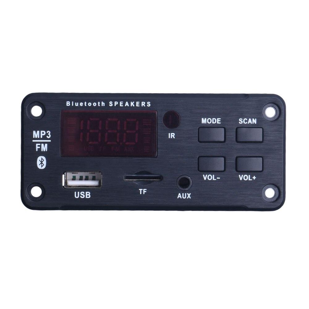 Беспроводной Bluetooth MP3 WMA декодер доска аудио модуль Поддержка USB TF AUX FM аудио радио модуль для автомобиля аксессуары|MP3-плееры|   | АлиЭкспресс