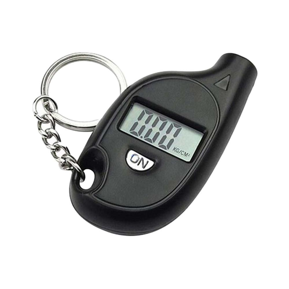 Mini Digital Auto Wheel Tire Air Pressure Gauge Meter Test Tyre Tester Vehicle Motorcycle Manometer Car Barometers With Keychain