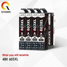 CMYK SUPPLIES 4BK T603XL 603 XL Ink Cartridge for Epson XP-2100 XP-2105 XP-3100 XP-3105 XP-4100 XP-4105 WF-2810 WF-2830 WF-2850 цена 2017
