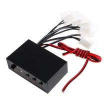 цена на 6 Ways LED Car Strobe Flash Light Lamp Emergency Flashing Controller Box DC 12V