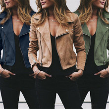 Autumn Winter Women Coat women Casual Tops Ladies Suede Leather Zip Up Jackets Coats Women warm Coats Fashion Streetwear