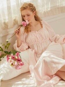Vintage Nightgown Cotton Nighty for Ladies Night Wear Women Sleepwear Pregnant Woman Comfortable fabrics