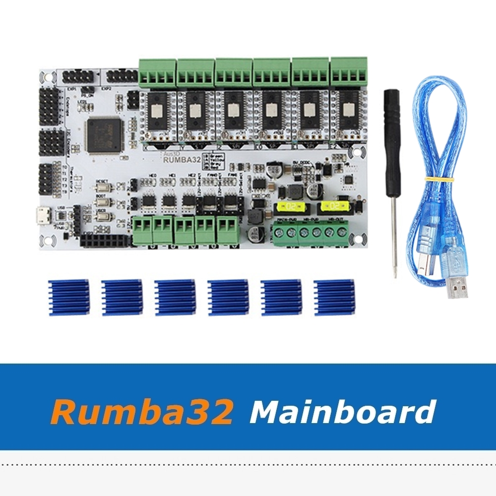 Плата управления ручной работы Rumba32 Rumba 32 + модуль драйвера SD6128 6 шт., совместимый с Marlin 2,0 32 бит, детали для 3D принтера