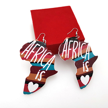 YD & YDBZ Vintage África mapa cuelga los pendientes declaración letra patrón colgante pendiente de estilo nacional de la India de las orejas de la joyería
