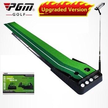 Pgm 2.5M/3M Golf Putting Mat Golf Putter Trainer Green Putter Carpet Practice Set Ball Return Mini Golf Putting Green Fairway