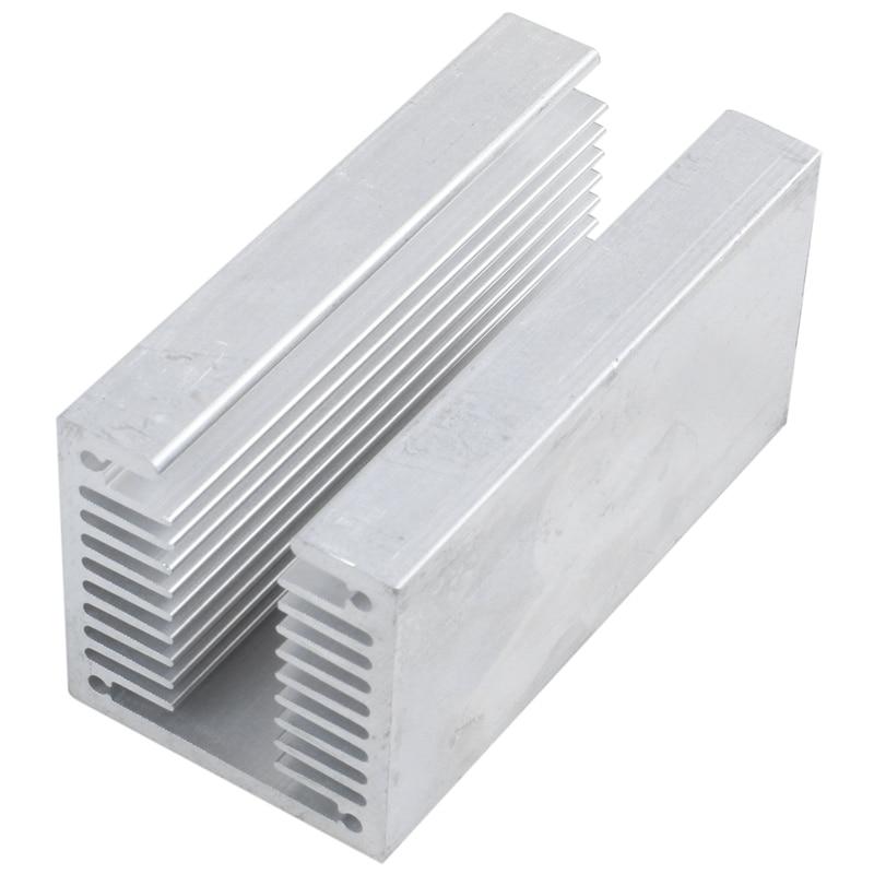 1 X Silver-aluminum Radiator U 80 * 40 * 40mm