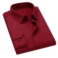 Классическая офисная мужская рубашка с длинным рукавом 1