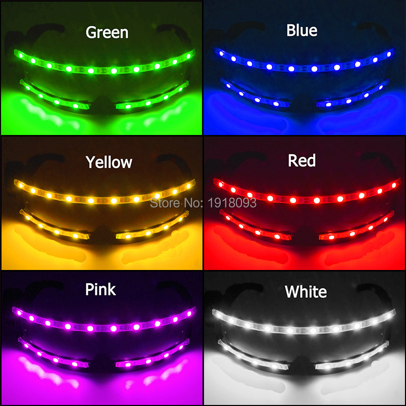Rave Glow Light Up Necktie Neon Led Ties For Halloween Christmas Rave Party Show Performance Costume Accessory