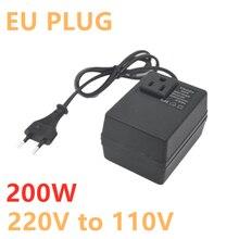 1000w transformer ac220v to 110v ac110v to 220v converter 200W Voltage Converter Transformer 220V To 110V Step Down Travel Portable Household Hotel EU Plug Voltage Transformer Converter