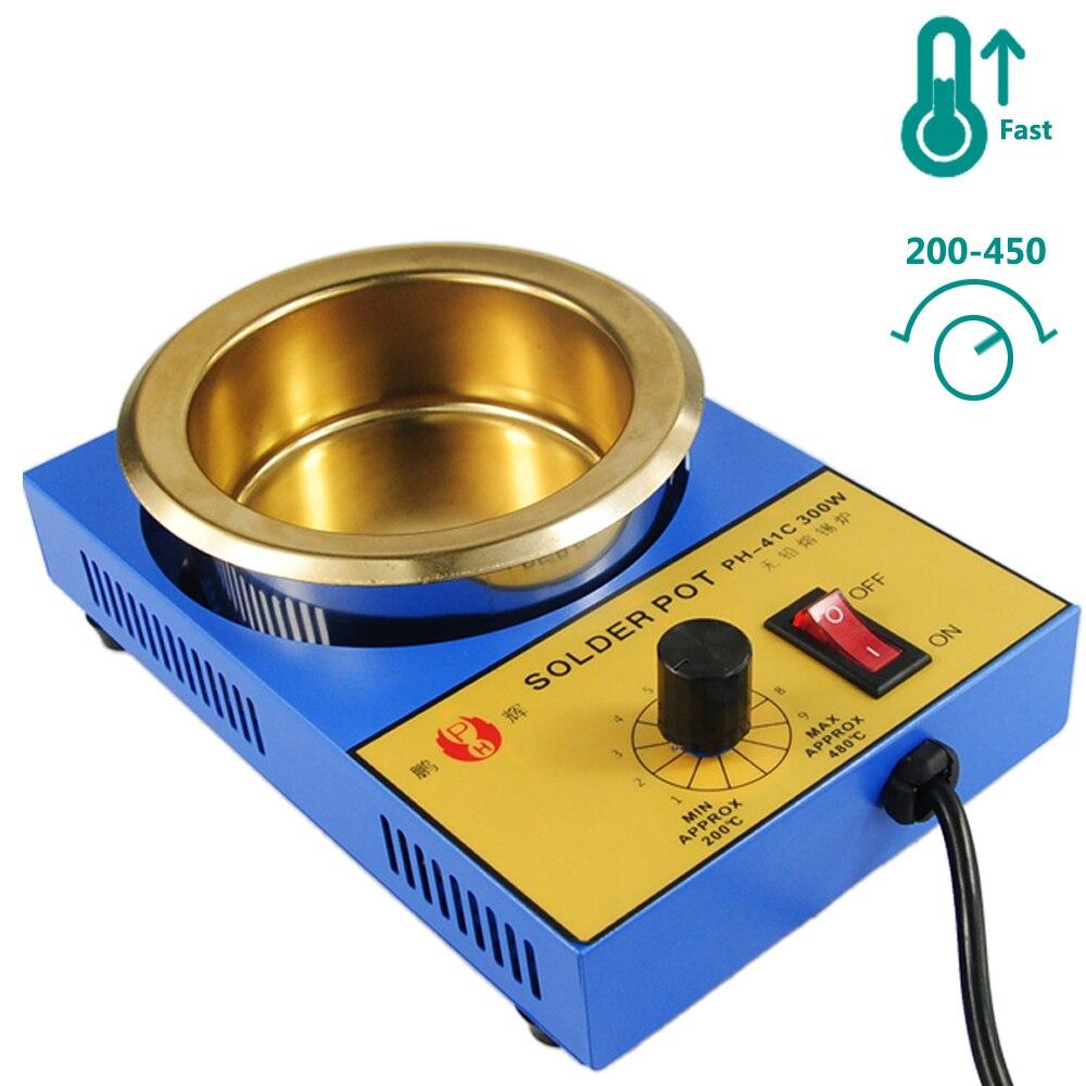 Tin Pot Quality 450 Cans Melting Pot Centigrade Tin Controlled US Plug EU 200 Temperature High UK Soldering