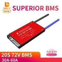 Batería de iones de litio para bicicleta eléctrica, paquete de batería de 3,7 V, 20S, 72V, bms, 18650 BMS, 30A, 40A, 50A, 60A, voltaje de carga BMS, 54,6 V con balance