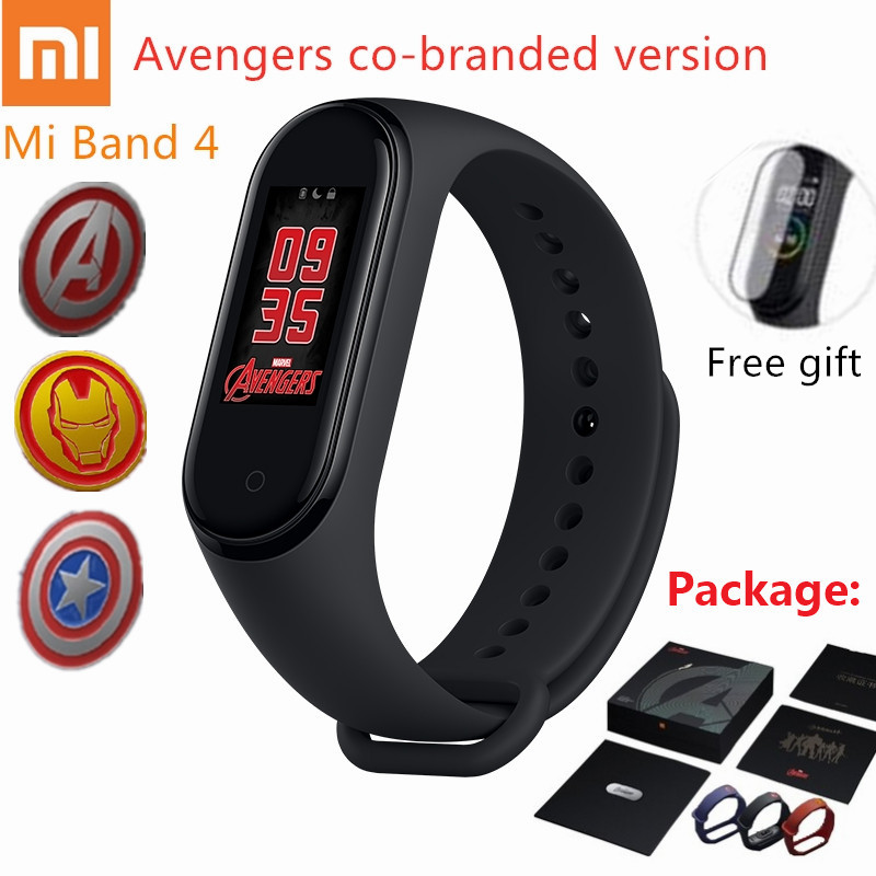 2019 Newest Original Xiaomi Mi Band 4 avengers official edition Smart Miband 4 avenger Bracelet Bluetooth5 0 Heart Rate Fitness in Smart Wristbands from Consumer Electronics
