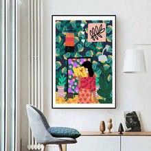 Скандинавский Красочный Абстрактный постер и принты для чтения