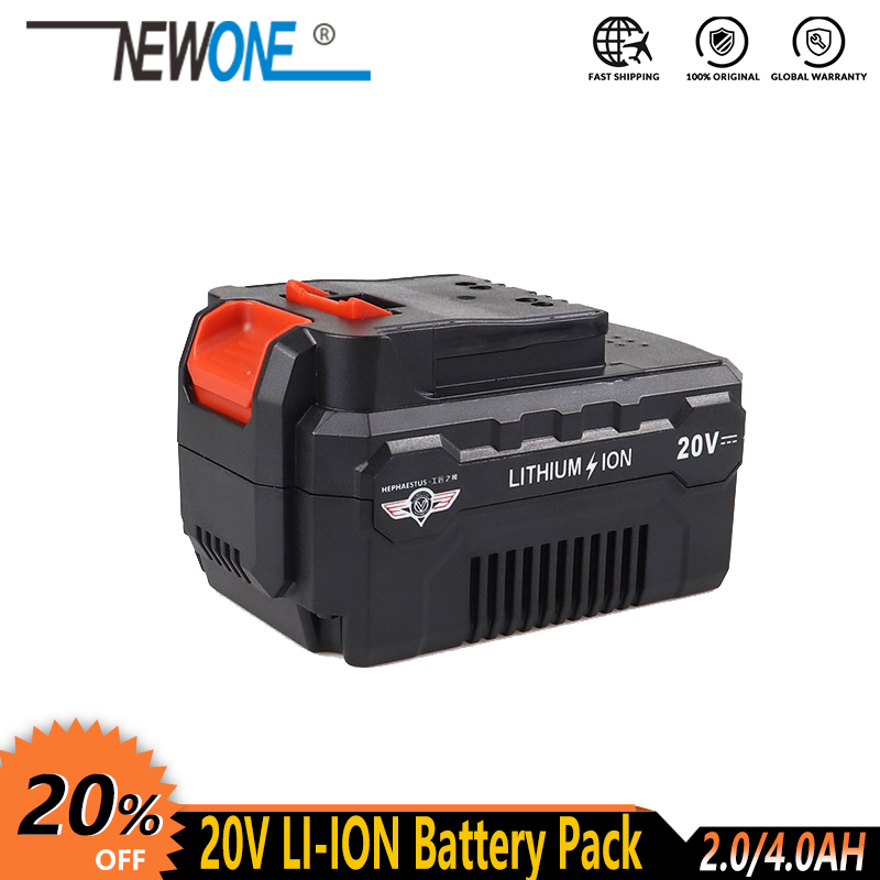 20V cordless Lithium Battery for 18V TCH and NEWONE and HEPHAESTUS Power Tools