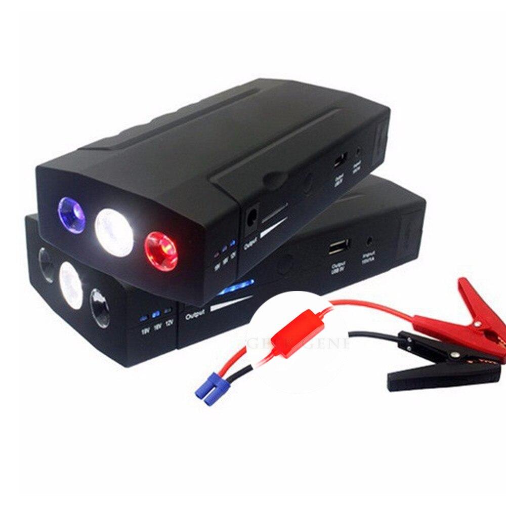 68000mAh essence Diesel voiture chargeur Booster chargeur 12V 600A voiture saut Starer batterie externe Portable démarrage dispositif voiture démarreur LED
