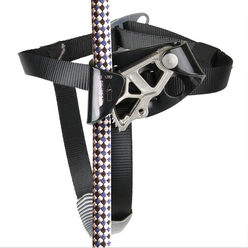 Left Foot Ascender Riser Rock Climbing Mountaineering Equipment Gear Max Load: 100kg CE Certificated