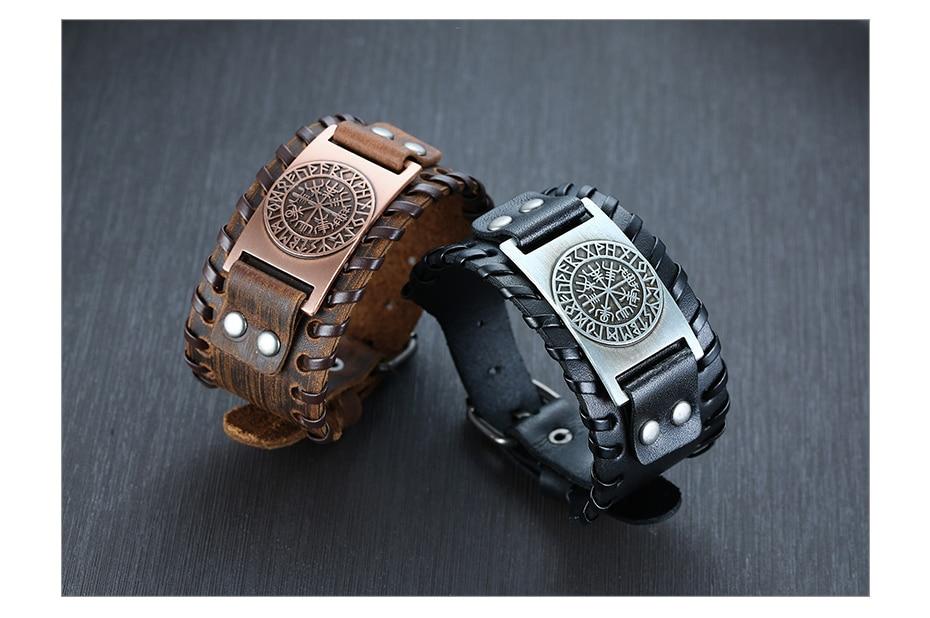 Hf692e85d5f5b40808d89f41241592380r - Viking Leather  Bracelets