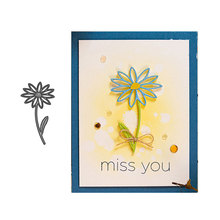 JC Metal Cutting Dies for Scrapbooking Miss you Flower Die Cut 2019 Craft Stencil Handmade Paper Cards Making Model Decoration