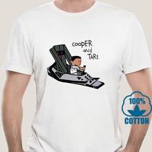 2139A Cooper And Humor Robot Tars Funny Tshirt Men Summer New White Short Sleeve Casual Homme Cartoon Interstellar T Shirt
