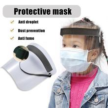 Protective Adjustable Anti Splash Dust-proof Full Face Cover Mask Visor Shield Cycling Mask Full Face Cover Mask Home Mask