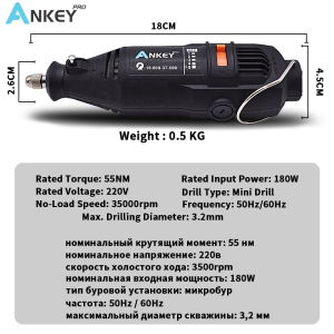 Image 4 - Dremel Style New 180W Engraving Pen Electric Drill grinder Mini Drill DIY Drill Electric Rotary Tool Mini mill Grinding Machine