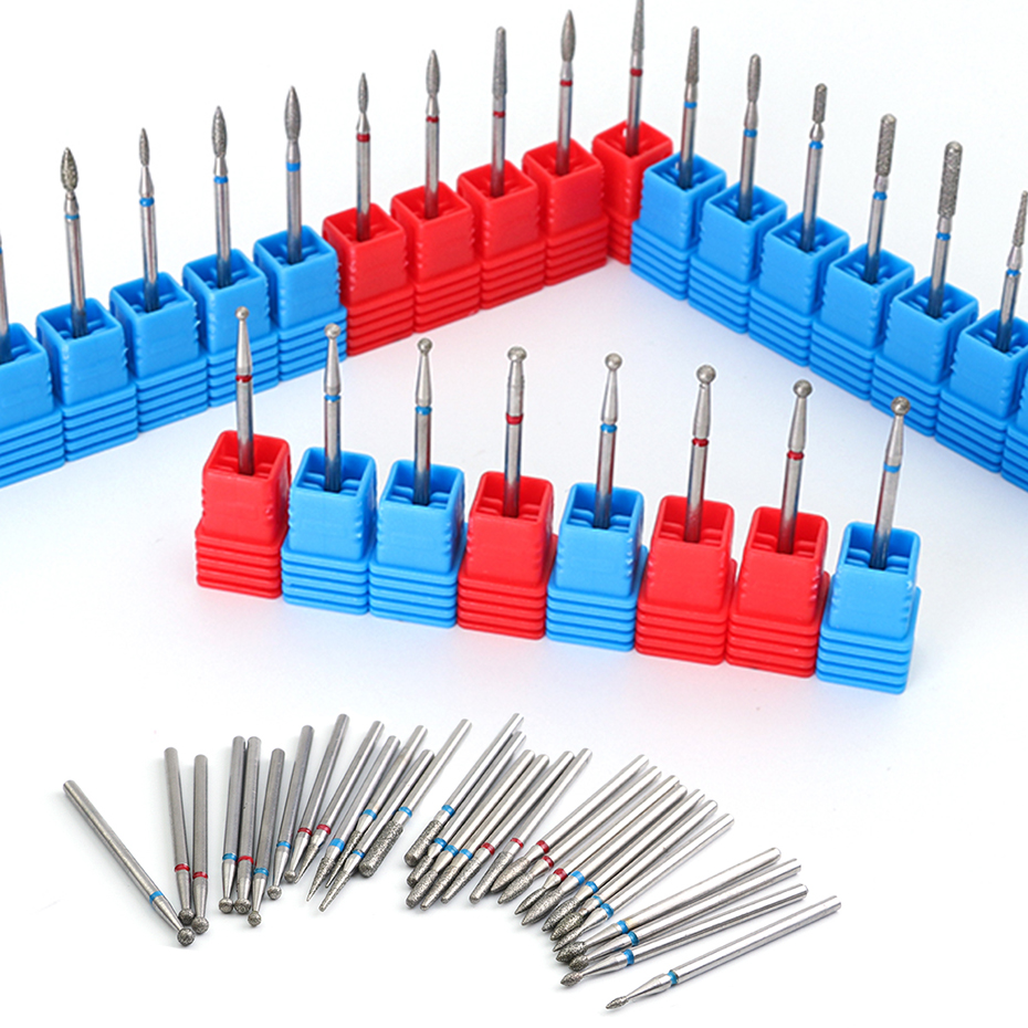 Diamond Nail Drill Bits Set Safe Milling Cutter Metall For Manicure Cutters For Pedicure Tool Nails Accessories Removing LE01-29