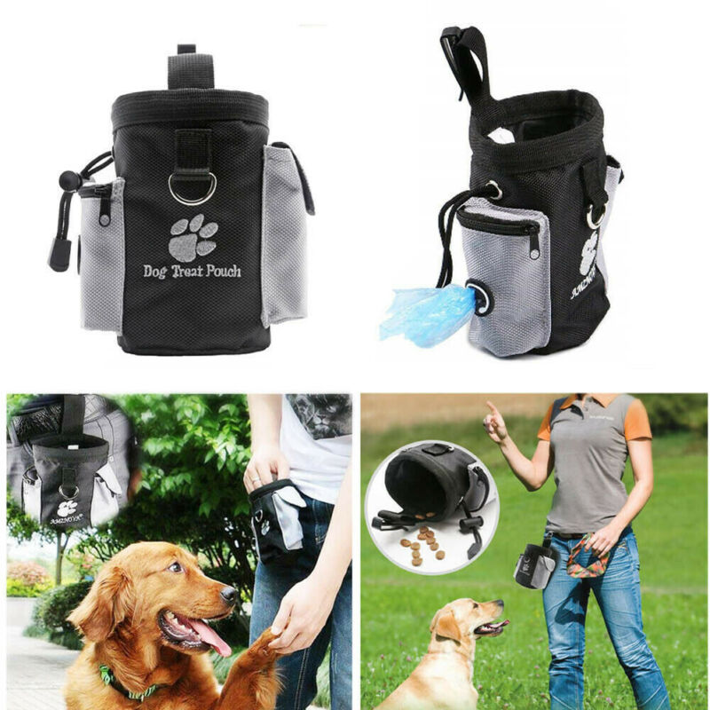 Pets Dog Cat Outdoor Obedience Puppy Training Waist Pouch Treat Bag Feed Bait Food Snack Pouch Holder Belt Bags