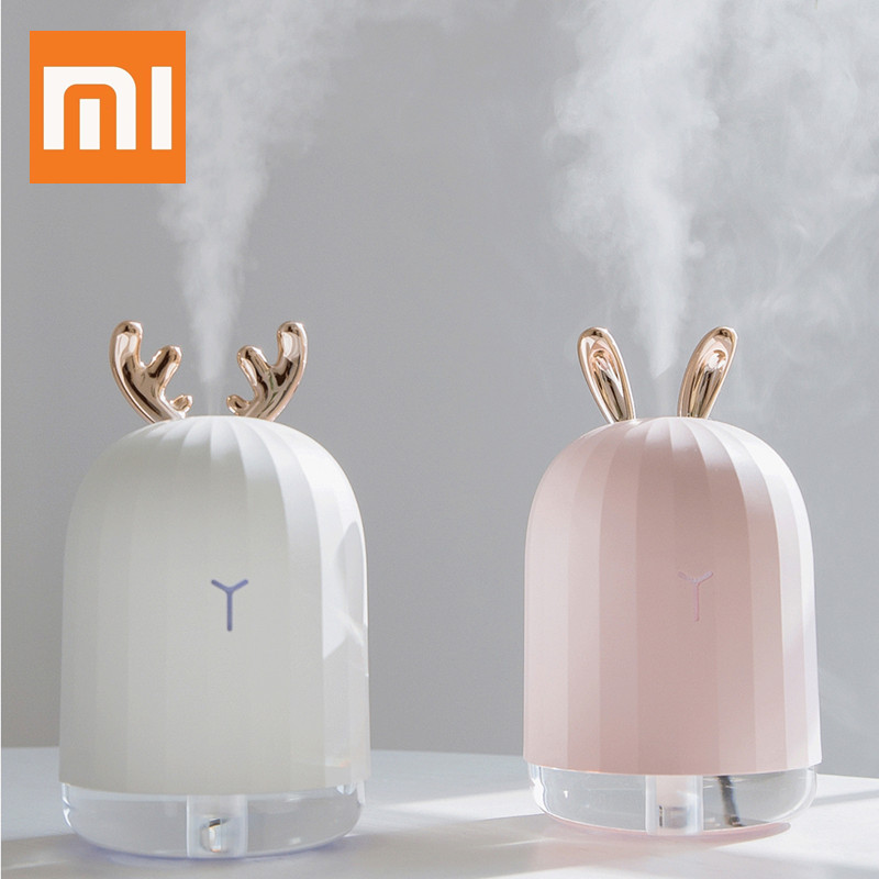 Xiaomi Youpin Cute Rabbit Deer Air Humidifier Pregnant Baby Quite Ultrasonic USB Essential Oil Diffuser Anion Car Humidificadors image