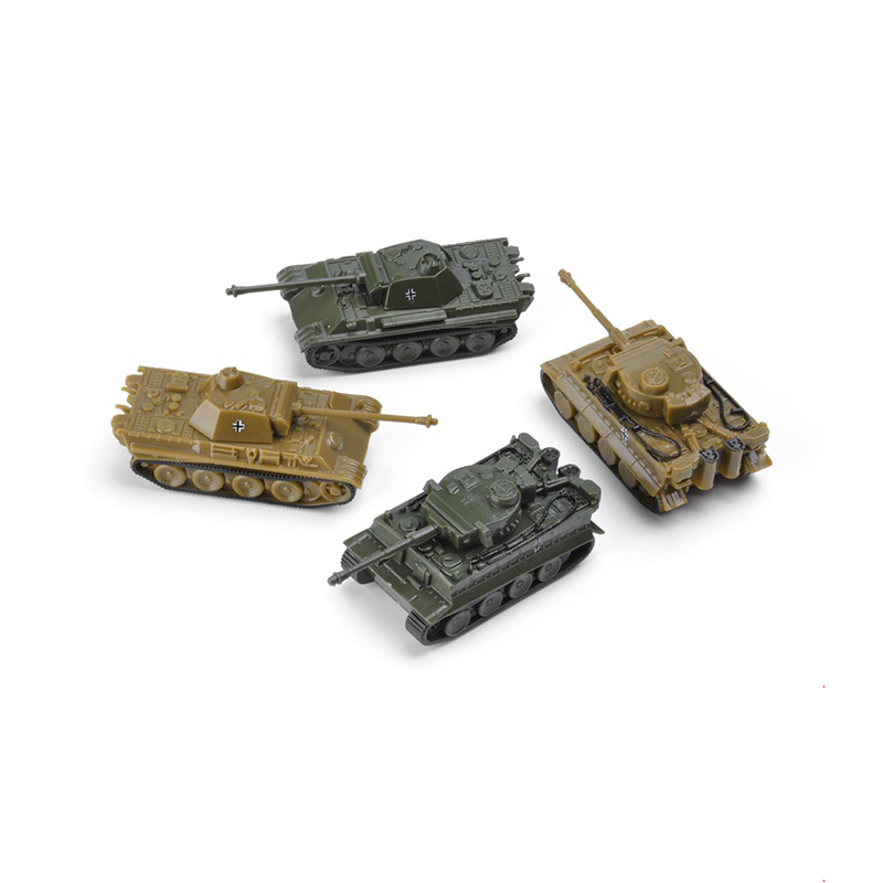 4pcs/Set Assembling Model 1:144 WWII German Tiger Tank Classic Heavy Tank Military Model Toys For Children Gift Collection Model