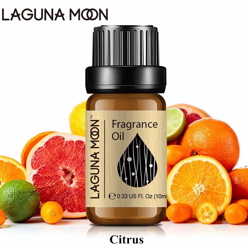 Lagunamoon Citrus 10ml Fragrance Oil Sea Breeze Lime Coconut Vanilla Mandarin Parma Violet Natural Plant Oil Aroma