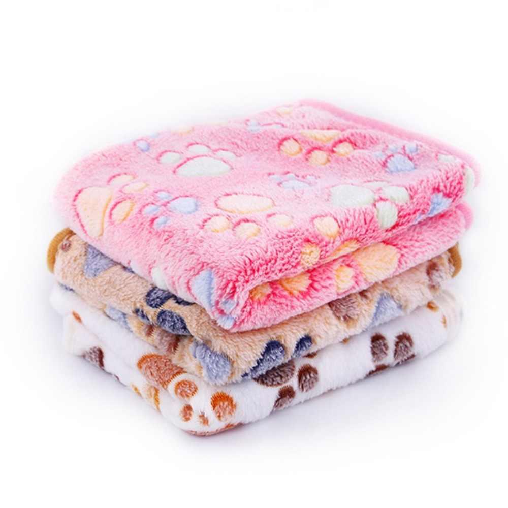 厚みのペット犬毛布ポウ柄猫犬マット通気性ソフトフリーのための犬猫子猫ハムスター暖かい毛布
