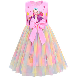 Image 2 - Filles Jojo Siwa robe filles Bow Vestidos enfants fête robe danniversaire enfants robes filles noël JOJO Siwa robe de princesse