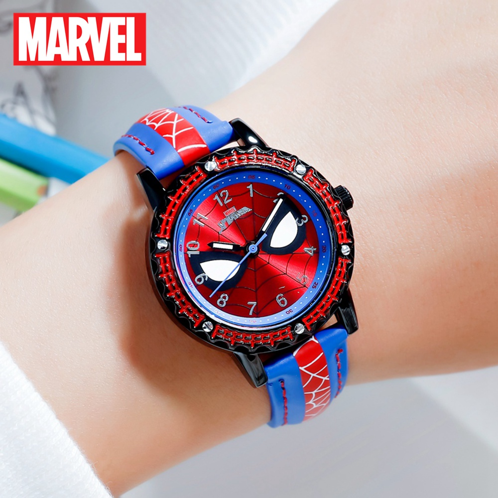 Spider-men Child Super Hero Cool Quartz Waterproof Watch Marvel Avengers Student Clock Time Boys Birthday Gift Kids Time Disney