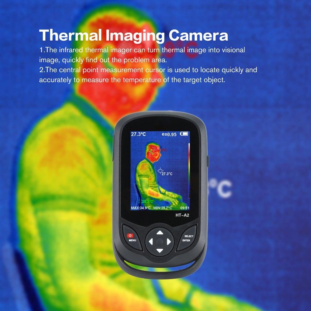 HT A2 3.2 polegada digital ir câmera de imagem térmica 0.3mp visão completa tft tela termômetro infravermelho câmera de imagem térmica detector - 2