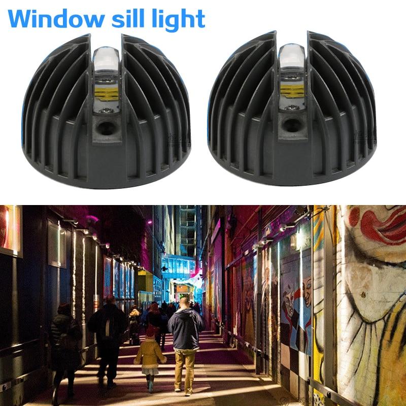 Semicircle Shape 12W LED Wall Window Sill Lights Frame Wall KTV Hotel Bar Corridor LED Door Light Bulb 180 Degree Lighting