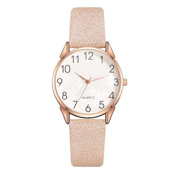Frosted Light Color Design Leather Strap Women Watches Fashion Casual Ladies Wristwatches Simple Scale Quartz Female Watch Gifts fashion deer head dial design hand made light wood watch with brown genuine leather strap bamboo wristwatches for men women