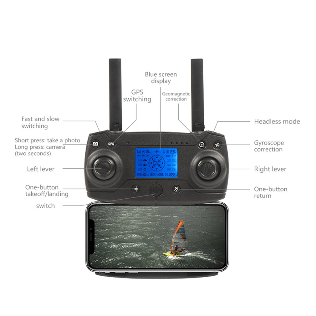 Drone GPS KY601G 4k drone HD 5G WIFI FPV drone vlucht 20 minuten quadcopter afstandsbediening afstand 2km drone camera - 3