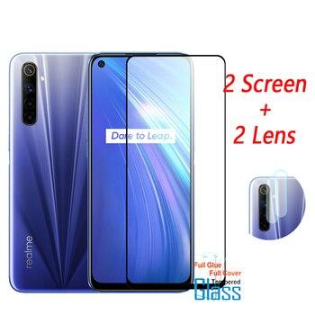 Перейти на Алиэкспресс и купить Полное покрытие закаленное стекло для Oppo Realme 6 Защита экрана для Oppo Realme 6 стекло для камеры для Oppo Realme 6 защитное стекло