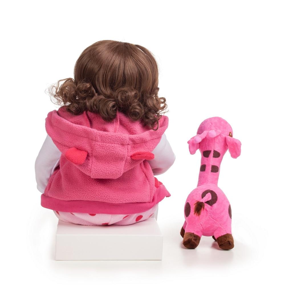 48cm Silicone Reborn bébé poupées Bebe réaliste réaliste bambin vraie fille poupée lol jouets pour enfants meilleur cadeau pour anniversaire - 6