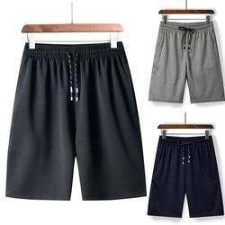 Calção de praia casual masculina, bermudas finas de secagem rápida para verão, calças curtas e esportivas de algodão, vintage roupas