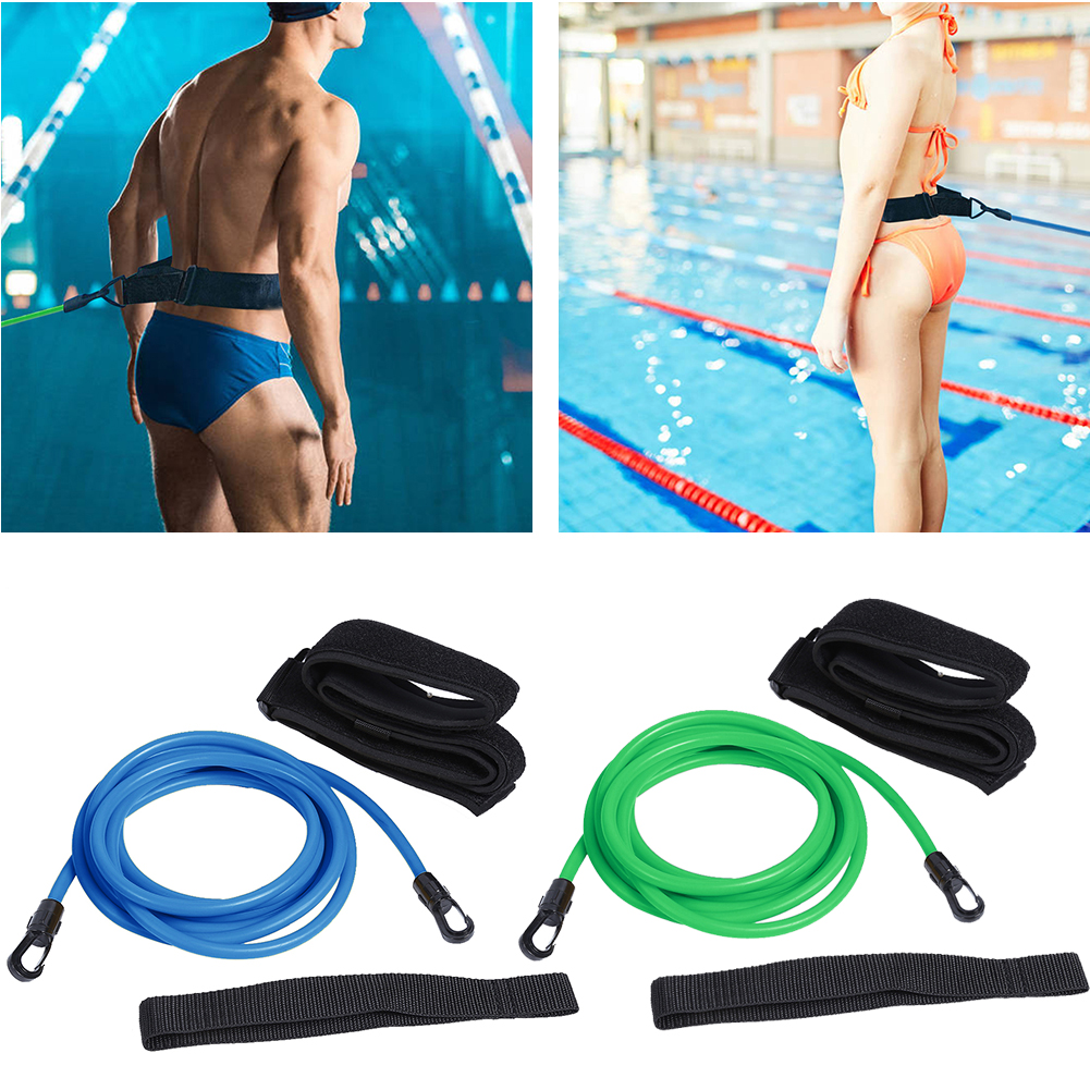 Swimming Elastic Belt Swimming Training Resistance Easy Carrying Pool Accessories Adjustable Swimming Durable Parts