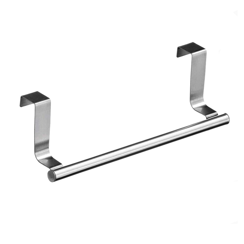 Multi-purpose Stainless Steel Single Towel Rack Creative Practical Door Back Rag Hanging Rack Towel Bar