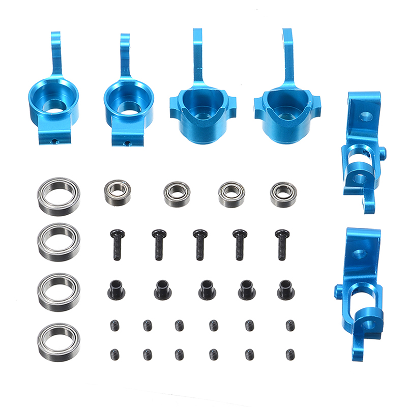 1 Set Alloy Front Rear Hub Carrier Steering Upgrade Steering Knuckle Hub Base Kit For HSP 1:10 <font><b>RC</b></font> <font><b>Racing</b></font> <font><b>Car</b></font> <font><b>Truck</b></font> image