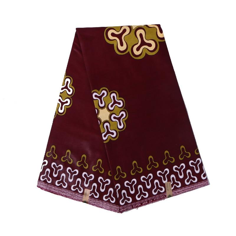 2020 New Arrivals Ankara Dutch Wax 100% Cotton Scarlet Print Fabric African Real Dutch Wax 6Yard