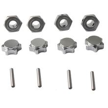 M17 17 Mm Aluminium Roda Hex HUB Adaptor NUT PIN Anti Debu Cover untuk 1/8 RC Model Mobil HPI HSP Traxxas Losi Axial Kyosho Tamiya(China)