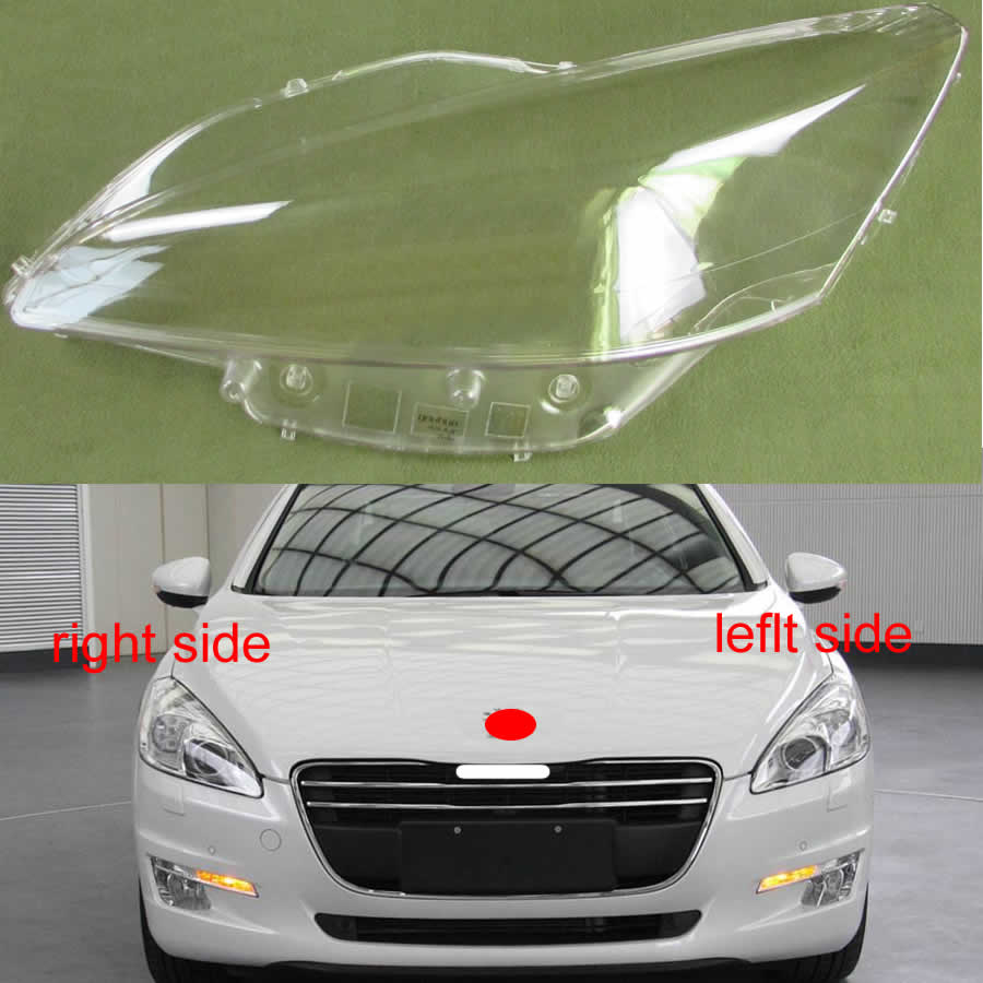 Headlight Cover Headlight Transparent Shell Headlamp Cover Lampshade Lens Lamp Shell For Peugeot 508 2011 2012 2013 2014