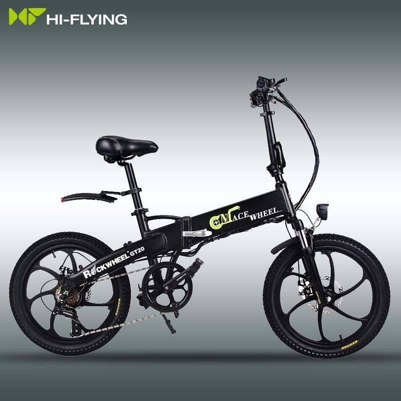 Electric Folding GT20 Bike Three Riding Modes ebike 350W Motor e bike 60KM Range Electric Bicycle 20 inch tire scooter 4