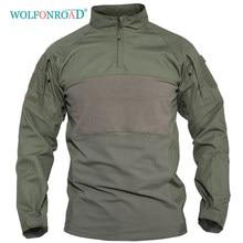 WOLFONROAD camisetas tácticas de caza al aire libre para Hombre Camisetas de combate suave de aire verde, camisas militares del Ejército Azul Marino camiseta de caza gris