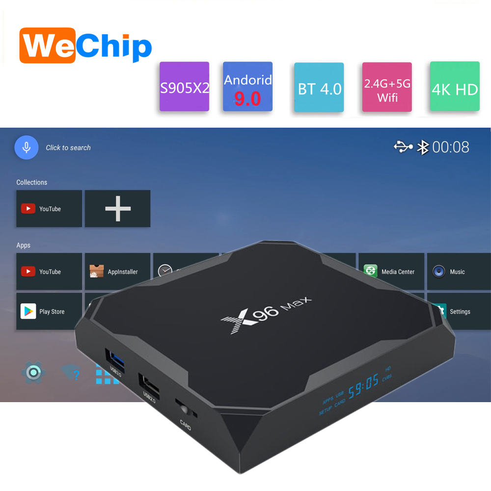 X96MAX Smart TV BOX Android 9 0 Amlogic S905X2 LPDDR3 Quad Core 4GB 64GB 2 4G